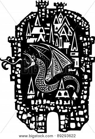 Woodcut Dragon City