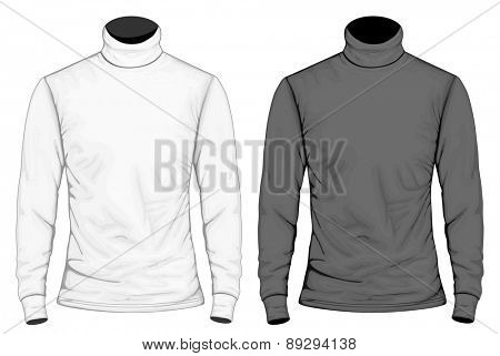 Men's turtleneck front view. Vector illustrtation