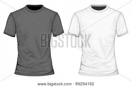 Men's t-shirt short sleeve. Vector illustration.
