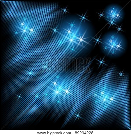 Glowing Rays And Stars