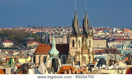 Aerial view of Prague (Czech Republic)
