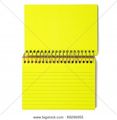 Blank Index Cards Spiral Bound Yellow