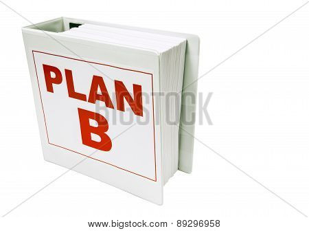 PLAN B On White With Copy Space