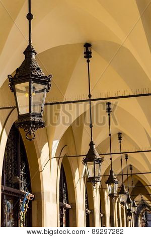 Cloth Hall (sukiennice), Which Is Situated In The Old Town In Cracow, Poland, Europe.