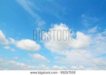 Blue And White Sky