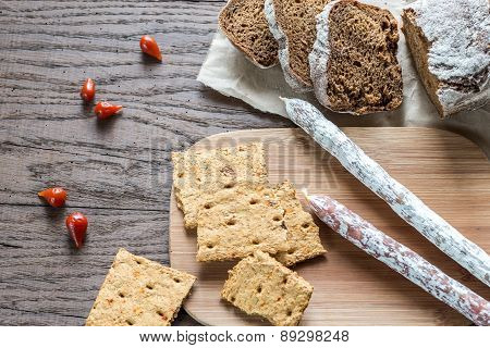 Salami With Bread