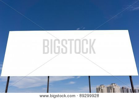 Blank Advertisement Space with Blue Sky