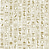 image of hieroglyph  - Ancient Egyptian Hieroglyphs Seamless for background  - JPG