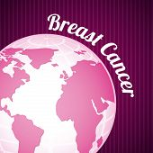 foto of world health organization  - Breast cancer design over purple background - JPG
