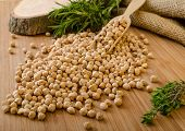 image of chickpea  - Raw and healthy chickpeas Simple but delicious legume used in Middle Eastern cuisine - JPG