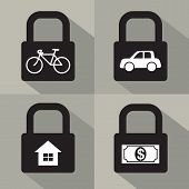 picture of asset  - Set Of Asset Security Concept Vector Illustration - JPG
