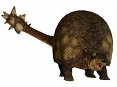 stock photo of herbivore animal  - Glyptodont was a large herbivorous mammal that lived in the Pleistocene Period of North and South America - JPG