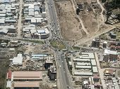 picture of ethiopia  - Aerial view of highway roundabout and buildings in Addis Ababa - JPG