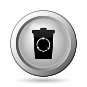 stock photo of recycle bin  - Recycle bin icon - JPG