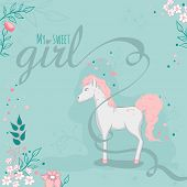 image of horse girl  - Greeting card  - JPG