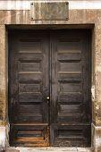 image of door  - Vintage door with blank door - JPG