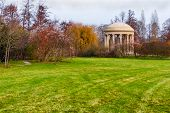 pic of versaille  - Autumnal landscape at Versailles garden with pavilion - JPG