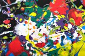 image of paint spray  - Abstract acrylic modern painting fragment - JPG