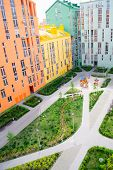 picture of colorful building  - Aerial view on colorful residential buildings - JPG