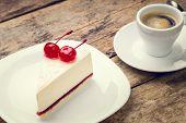 picture of cheesecake  - Restaurant breakfast background - JPG