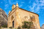 stock photo of chapels  - Chapel of Sant Joan in Montserrat mountains in Montserrat - JPG