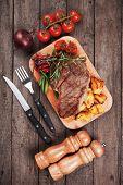 pic of rib eye steak  - Beef rib - JPG