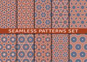 picture of ten  - Beautiful geometric seamless patterns set - JPG