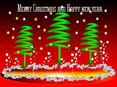 image of precious stone  - merry christmas and new year with stars - JPG