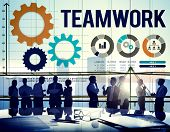 stock photo of team  - Teamwork Collaboration Business Team Interest Concept - JPG