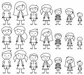 picture of sticks  - Set of Cute and Diverse Stick People in Vector Format - JPG