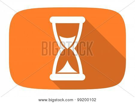time flat design modern icon with long shadow for web and mobile app