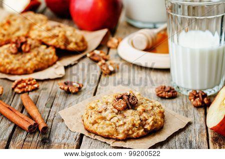 Apples Oats Cinnamon Cookies