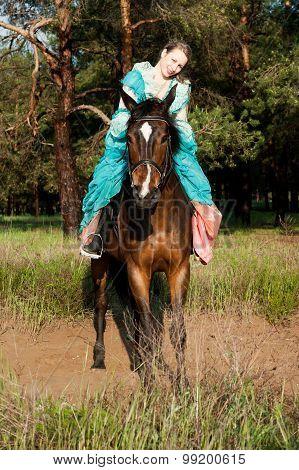 Horsewoman Riding.