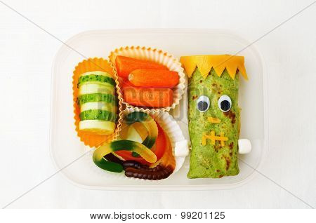 Lunch Box For Children In The Form Of Monsters
