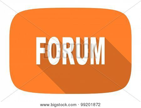 forum flat design modern icon with long shadow for web and mobile app
