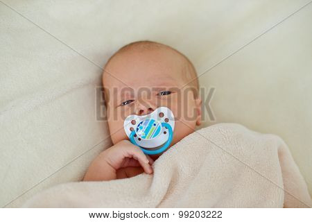 Newborn With Dummy