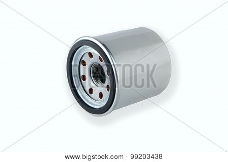 Oil Filter isolated on White Background