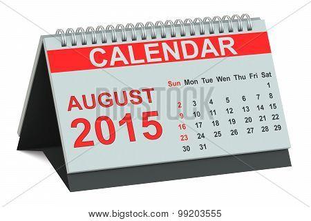 August 2015, Desk Calendar