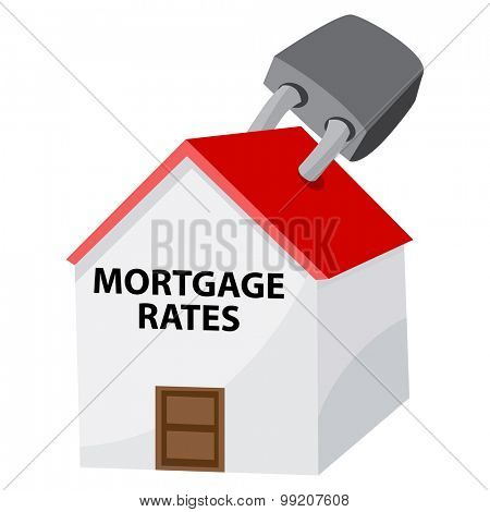 An image of a locked mortgage rates icon.