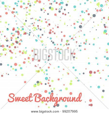 Abstract vector dot background. Colorful dotted pattern.