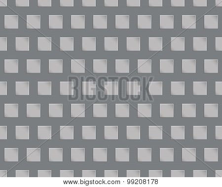 Seamless geometric texture with three-dimensional black and whit
