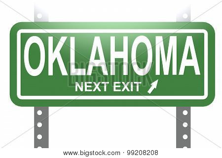 Oklahoma Green Sign Board Isolated