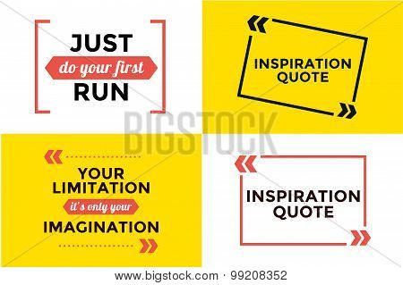 Sport quote blank template bubble set
