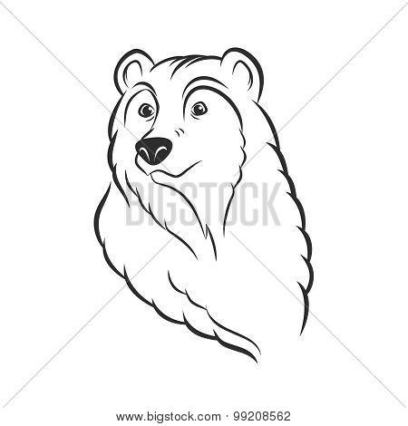Bear Head Logo Template Mascot Emblem