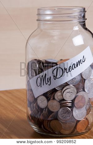 Cash Jar Filled For My Dreams