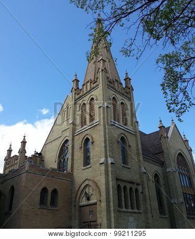 Beautiful historic church in Winnipeg, Canada
