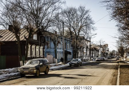Residential street in Kostroma, Russia