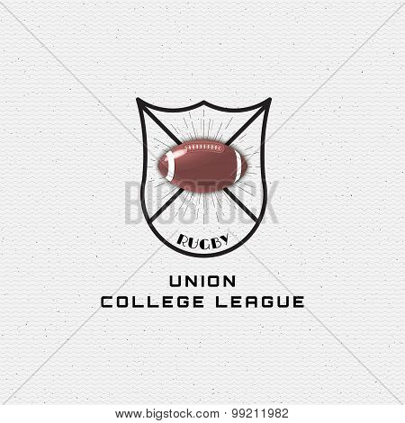 Rugby  badges logos and labels for any use