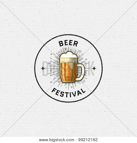 Beer festival badges logos and labels for any use