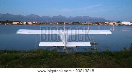 Bush Plane Prop Airplane Airport Anchorage Chugach Mountains